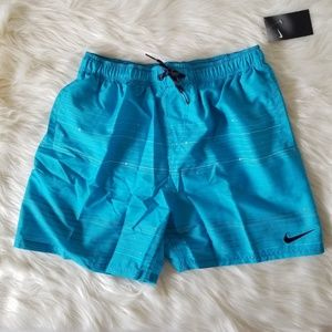 NWT Nike Blue Swim Trunk Mens sz L